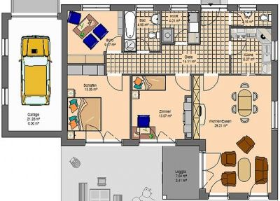 charmanter winkelbungalow mit integrierter garage einfamilienhaus pirna 2pasv33. Black Bedroom Furniture Sets. Home Design Ideas