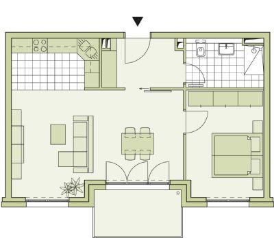 Zimmer wohnung neubau für 179 900 incl tiefgaragen stellplatz