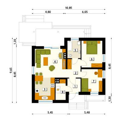 bungalow 90 m schl sselfertig ohne. Black Bedroom Furniture Sets. Home Design Ideas