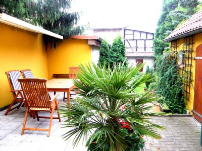 Stadtferienwohnung mit Garten