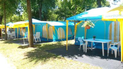 International Camping Etruria: Smile Camp Panorama Zelt in direkter Strandlage in wunderschöner naturbelassener Umgebung