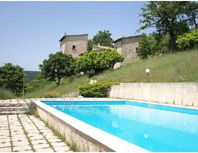 2 schöne Ferienwohnungen in einem ehemaligen Landgut in herrlicher Panoramalage im Valnerina Nationalpark-Umbrien-Spoleto